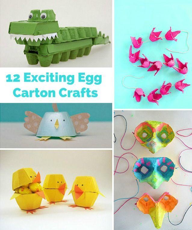 "Creative and ""egg-citing"" egg carton crafts!"
