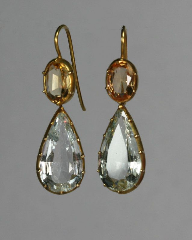 Regency Topaz  Earrings Circa 1810 - they look so modern