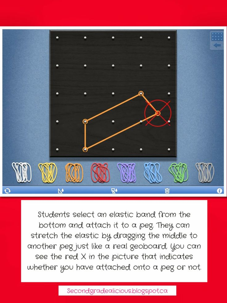 Awesome FREE app for geoboards!! This is fantastic. It's great for teaching 2D geometry and area and perimeter as well.