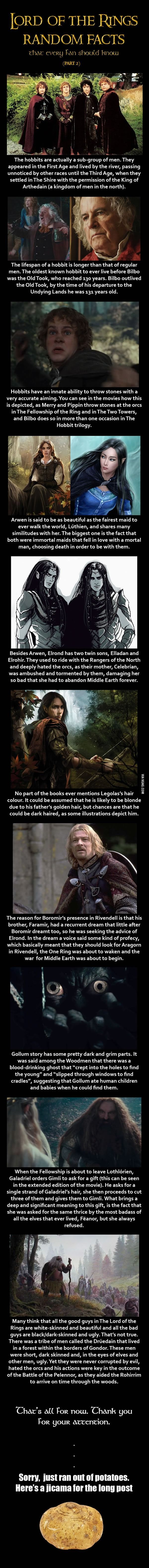"""LORD OF THE RINGS Facts that Every Fan Should Know - 1 -- Lots more of these on my """"Hobbit"""" board..."""