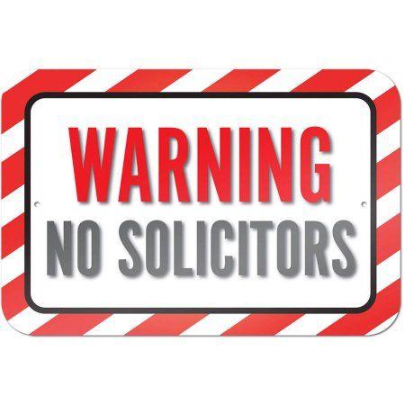 Warning No Solicitors Sign