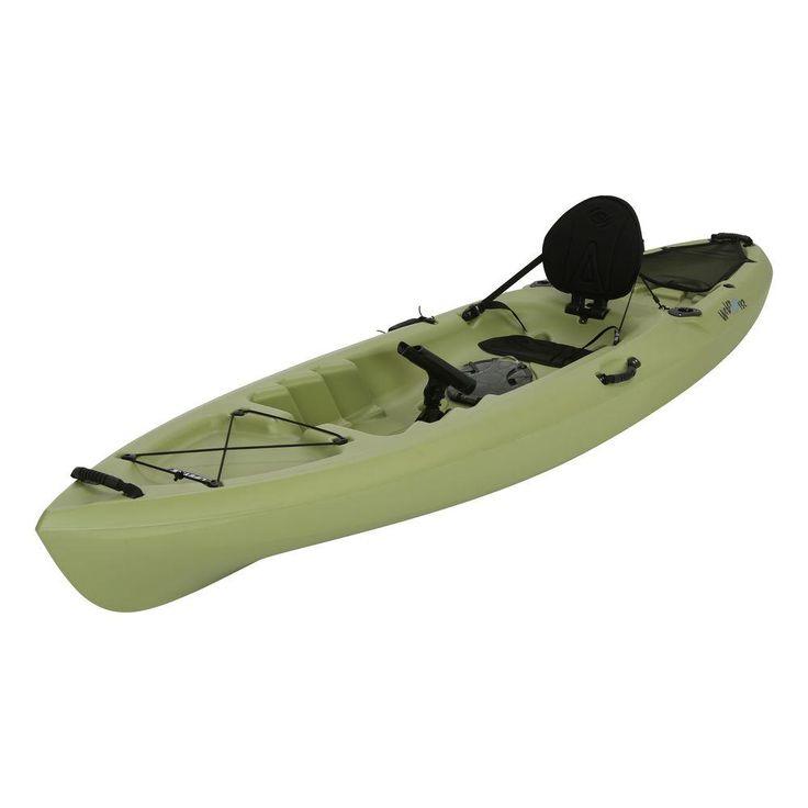 Lifetime Weber 11 ft  Kayak in Light Olive with Back Rest