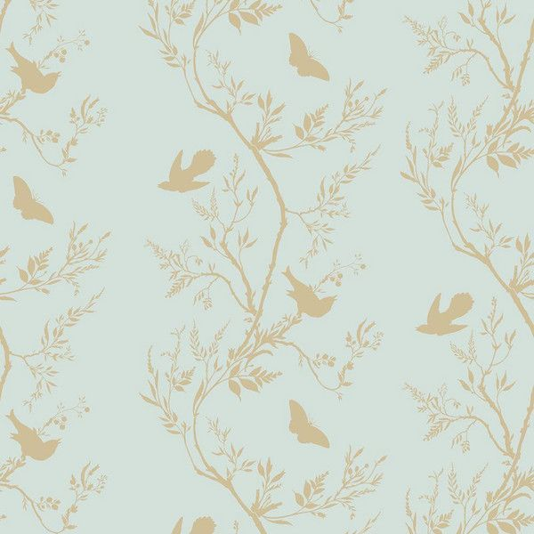 Timorous Beasties Birdbranch Stripe Hand Printed Wallpaper - Gold... ($120) ❤ liked on Polyvore featuring home, home decor, wallpaper, green, gold striped wallpaper, green stripe wallpaper, flower stem, green pattern wallpaper and butterfly wallpaper
