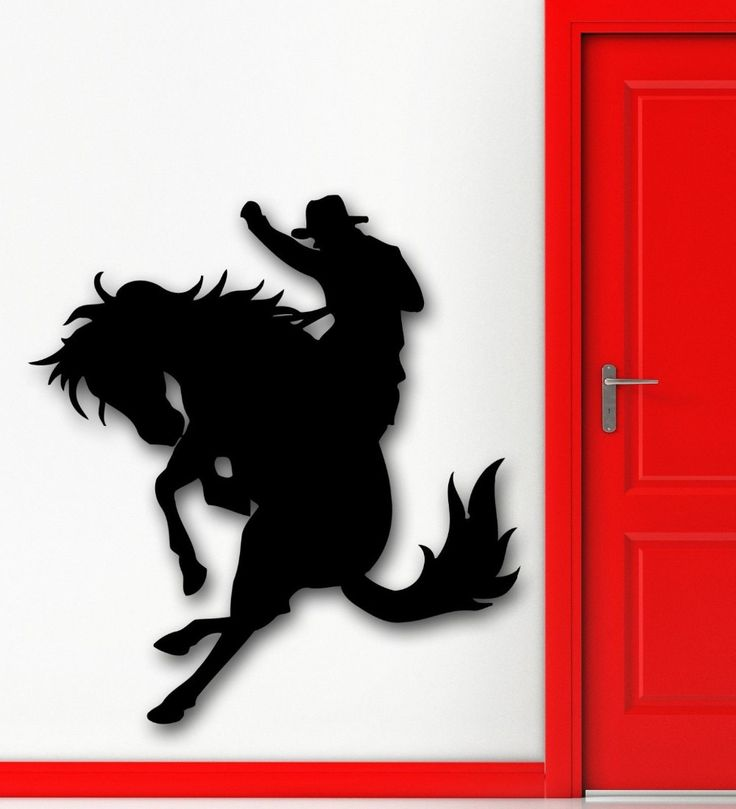 >> Click to Buy << Wall Stickers Vinyl Decal Texas Cowboy Rodeo Horse Racing Silhouette #Affiliate