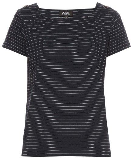 A.P.C. East Coast striped cotton-jersey T-shirt