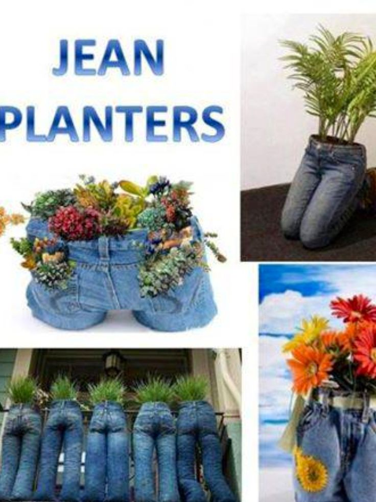 18 best jean pot planters images on pinterest gardening for Alte sachen im garten dekorieren