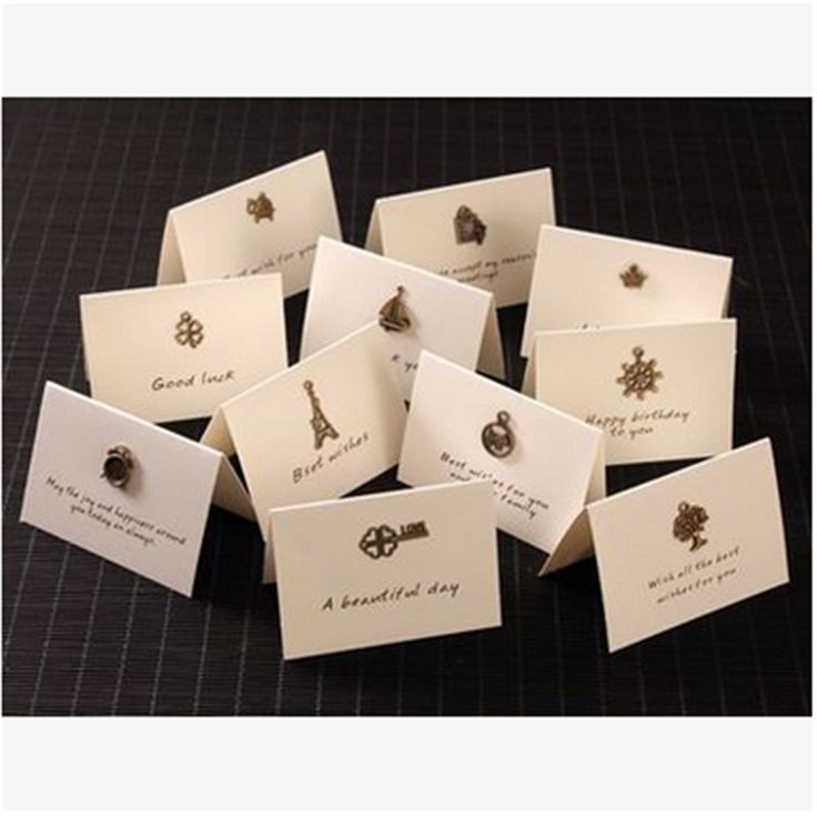 NEW! 10pcs/lot Vintage Iron Mini Cards Set DIY Greeting Message Cards & Invitations Stationery Party Supplies Wedding FavorB