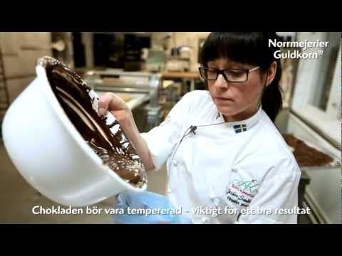 Lär dig göra chokladdekorationer med Jessica Sandberg - YouTube