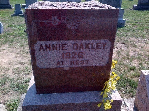 Anne Oakley was from Greenville, Ohio. Her grave site and her Museum is in Greenville also