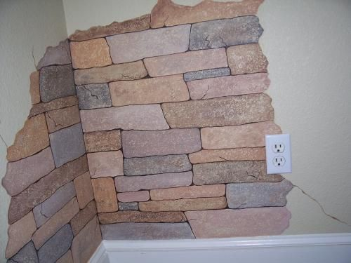 17 best images about stone wall on pinterest terraced - Faux stacked stone interior walls ...