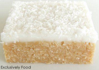 Exclusively Food: Lemon Coconut Slice Recipe