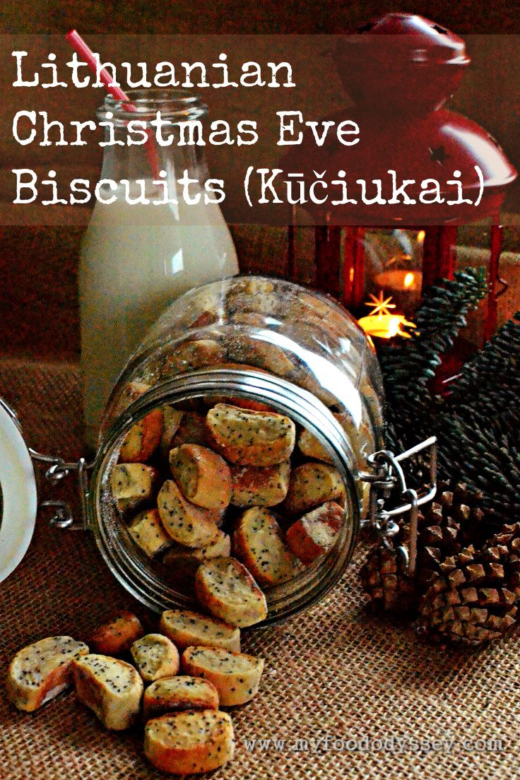 These tiny biscuits known as Kuciukai (koo-chuck-ay) are traditionally served in Lithuania on Christmas Eve. Delicious with a glass of milk.