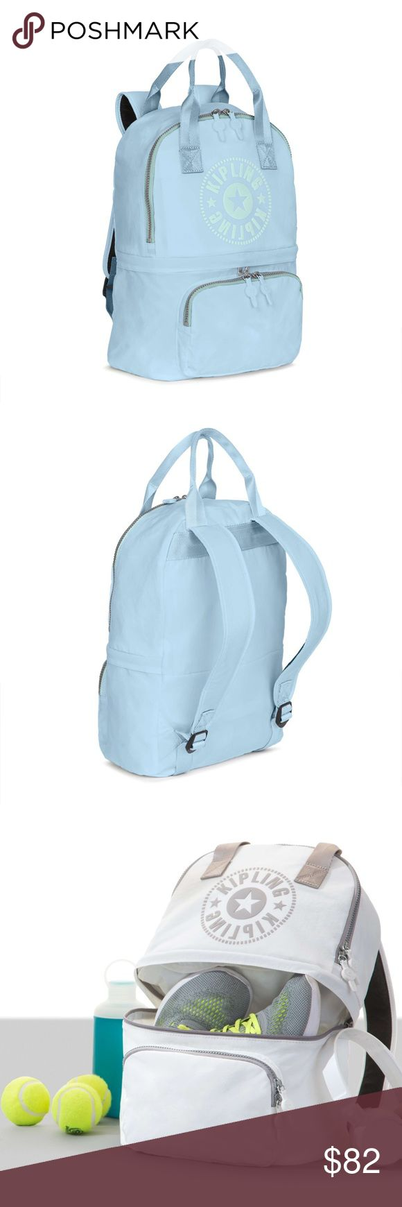 KIPLING DECLAN CONVERTIBLE BACKPACK (Light Blue) ORIGINAL PRICE: $119 NEW LAST PIC for authenticity #NWT #Kipling convertible #backpack, brand new with tags. This bag is so cute for the #spring and ready to roll into #summer with the inside zip that allows you to split the bag into two compartments. Just went swimming, separate your wet clothes and your wallet in this bag. My friend bought me a bday present that I already own, take it home for Spring. Kipling Bags Backpacks