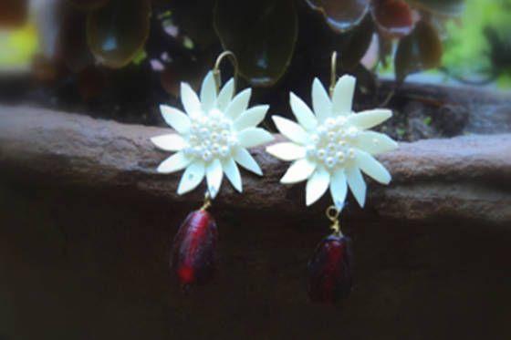White Flower Earrings - Ffv406p18514   Shopo.in