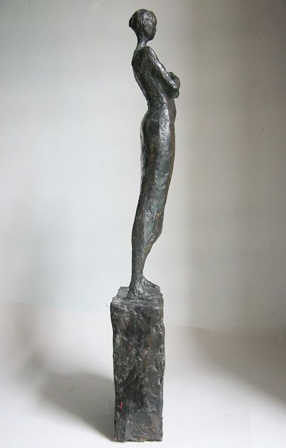 modern figurative bronze sculpture
