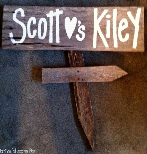 Personalized bride and groom sign salvage barn wood primitive wedding decor hp | eBay