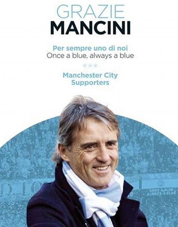 Close up: Manchester City fans advert in Gazzetta Dello Sport