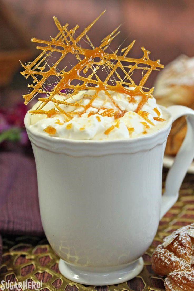 Creme Brulee White Hot Chocolate.