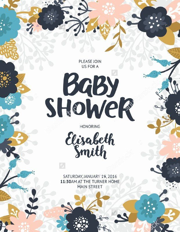 Baby Shower Flyer Template Best Of 16 Baby Shower Flyer Templates Printable Psd Ai Flyer Template Free Baby Shower Event Flyer Templates