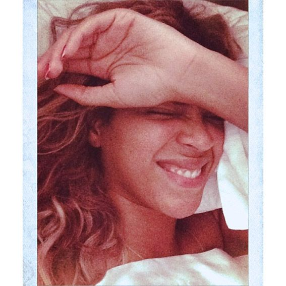 Bare-Faced Celebs: The Best No-Makeup Selfies on Instagram - Beyoncé from #InStyle