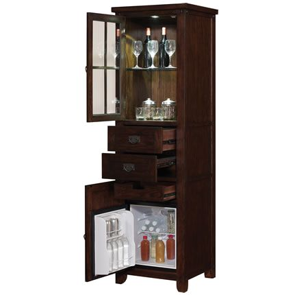 Tresanti Wine Cooler Cabinets Wine Bar Furniture Tresanti Dakota Caramel Oak Beverage Cooler