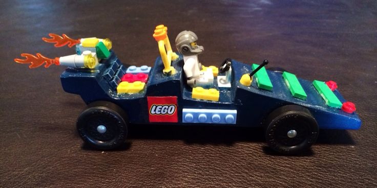 Our 2015 Pinewood Derby Lego car!