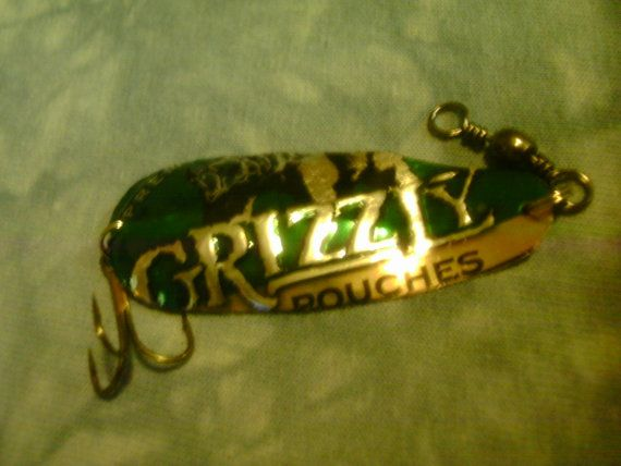 Grizzly Wintergreen Pouches Bass Spoon by MyHillbillyWays on Etsy