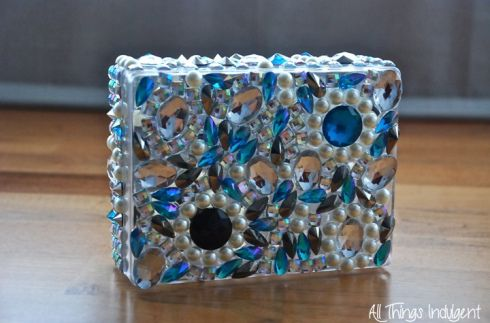 DIY Jewelled Box Clutch Finished