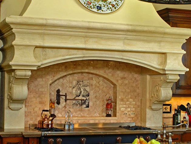 Classic kitchen range hood ideas from materials marketing for Italian kitchen hood