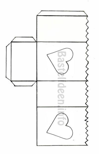 Bastelvorlage - Herz Tisch Laterne 400