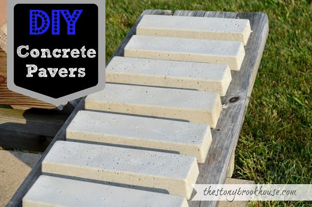 DIY Concrete Pavers - I want to make some and stain them with wood stain and then use them for a garden border.