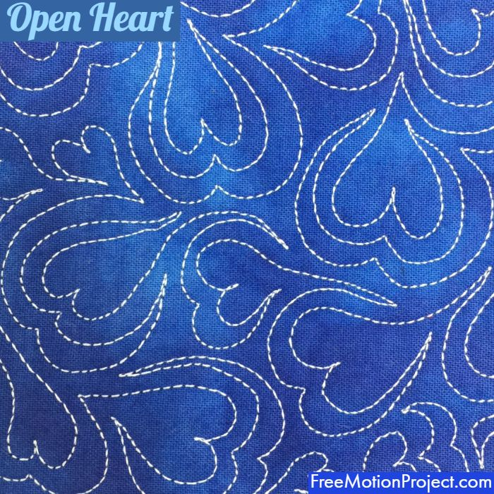 Quick And Easy Open Heart Quilting Design 506 Free Motion Quilting Project With Leah Day In 2020 Free Motion Quilting Free Motion Quilt Designs Easy Free Motion Quilting Designs