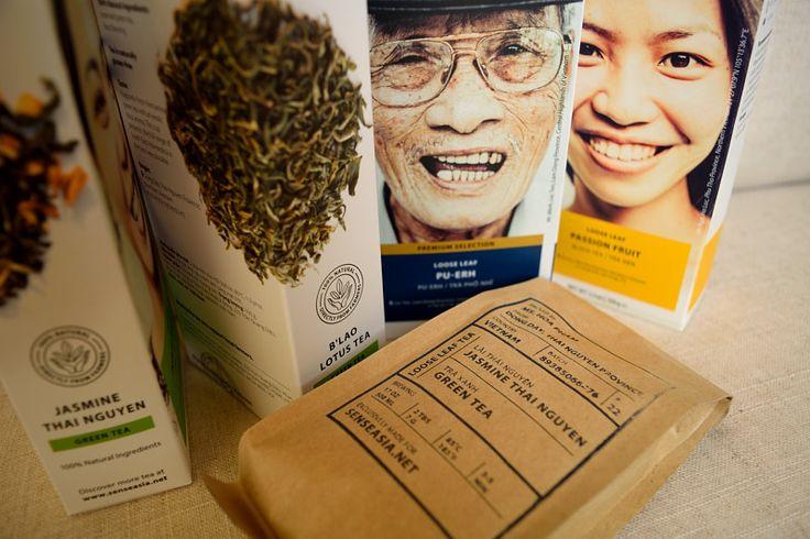 Vietnamese Tea by Sense Asia. Farmer's Tea Collection. #organic, #vietnam, #greentea, #blacktea, #herbaltea, #vietnamesecoffee