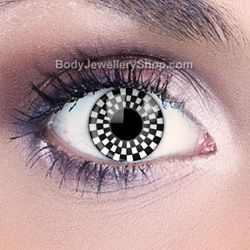 Funky Eyes Checkerboard Contact Lenses