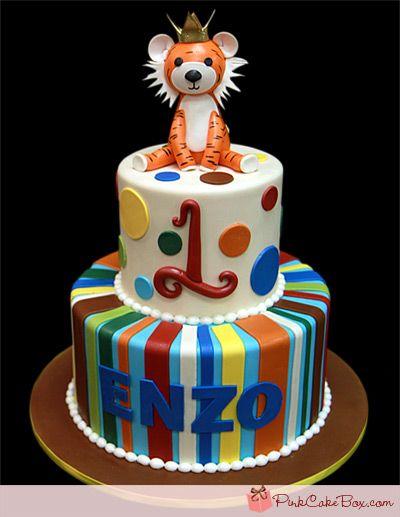 Tiger Birthday Cake by Pink Cake Box