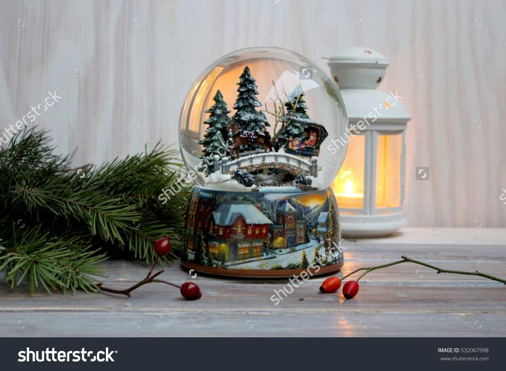 Christmas glass snow ball