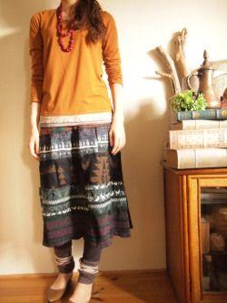 2014秋冬コーディネート2 エスニックボヘミアンファッション|エスニックなら通販サイトshams