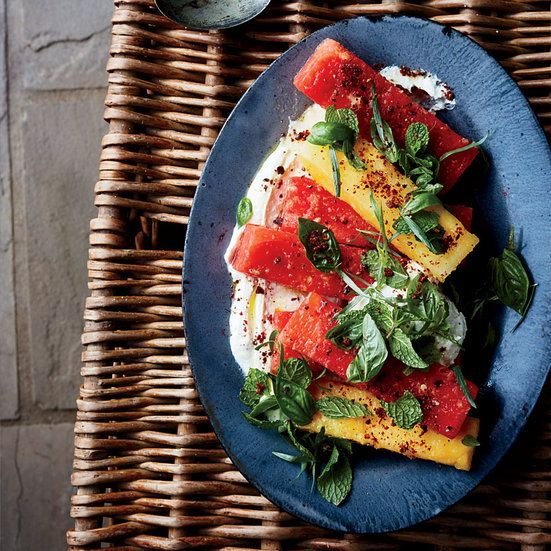 This best-ever Marinated Watermelon with Whipped Feta gets flavor from ginger, sumac, pink peppercorns and more. Get the recipe from Food & Wine.