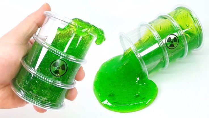 DIY Polluted Radioactive Slime | How To Make Contact Lens Solution Slime...