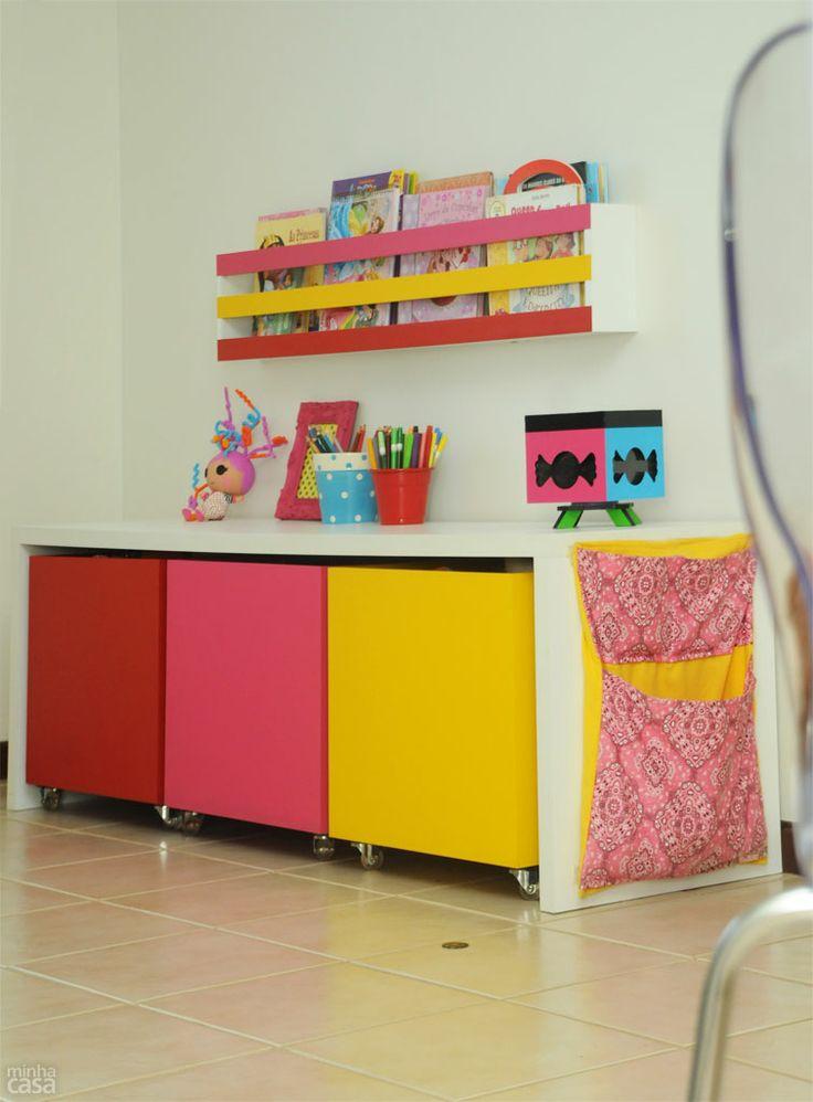 Decoração // Quarto para Bebê Menina // Lugar para guardar Brinquedos // Brinquedoteca // Colorido // Fofo ^^
