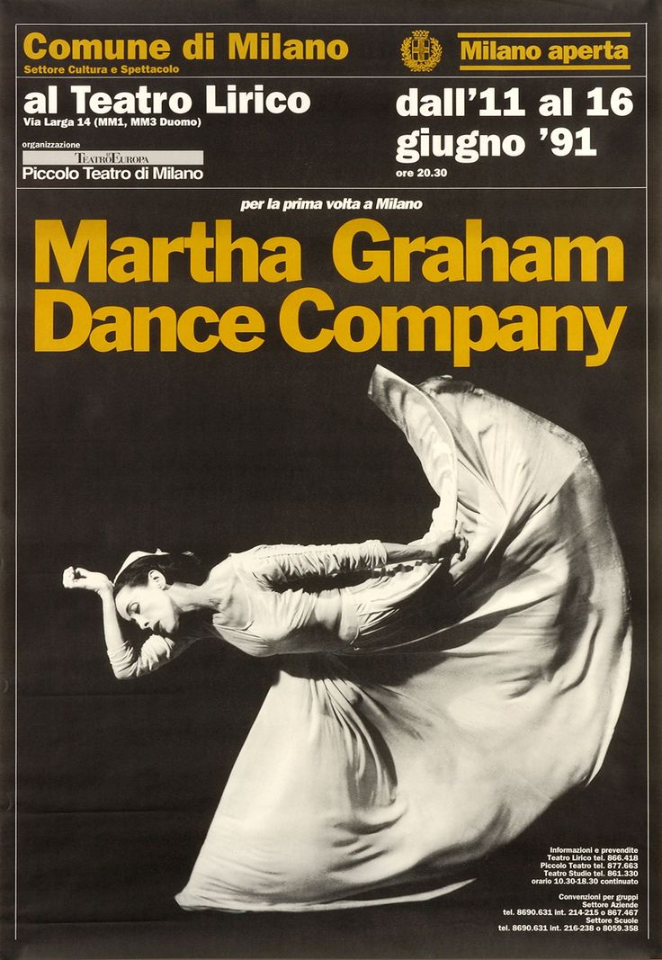 1990/91 Martha Graham Dance Company, Milano Aperta, Teatro Lirico
