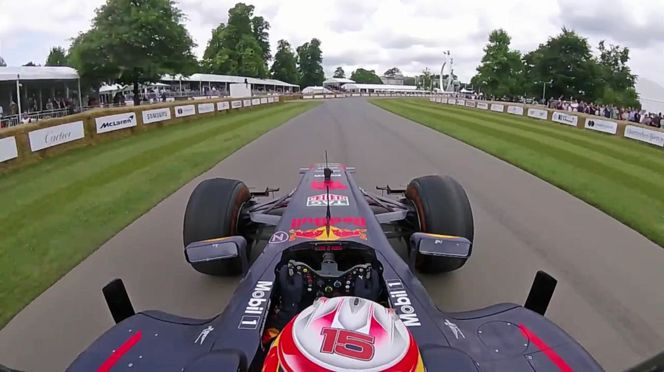 Red Bull Racing - Onboard With Pierre Gasly At Goodwood 2017 (VIDEO)