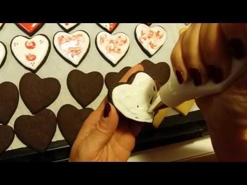 μικρή κουζίνα: Πώς να διακοσμήσουμε ένα μπισκότο με royal icing γ...