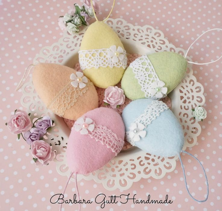 Barbara Handmade... easter eggs felt