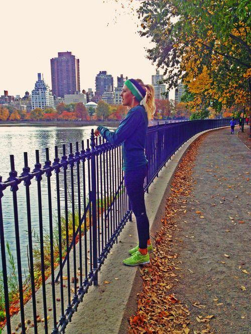Do a morning run in Central Park and get a coffee to go and a blueberry muffin
