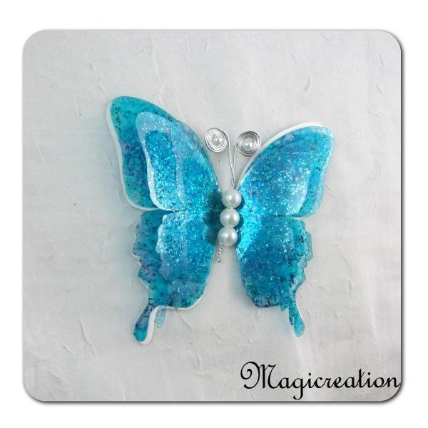 papillon GM attache 3D bleu