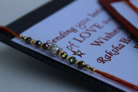 Set of two Raksha Bandhan  Rakhi Cards by BejuledCreations on Etsy, $15.95