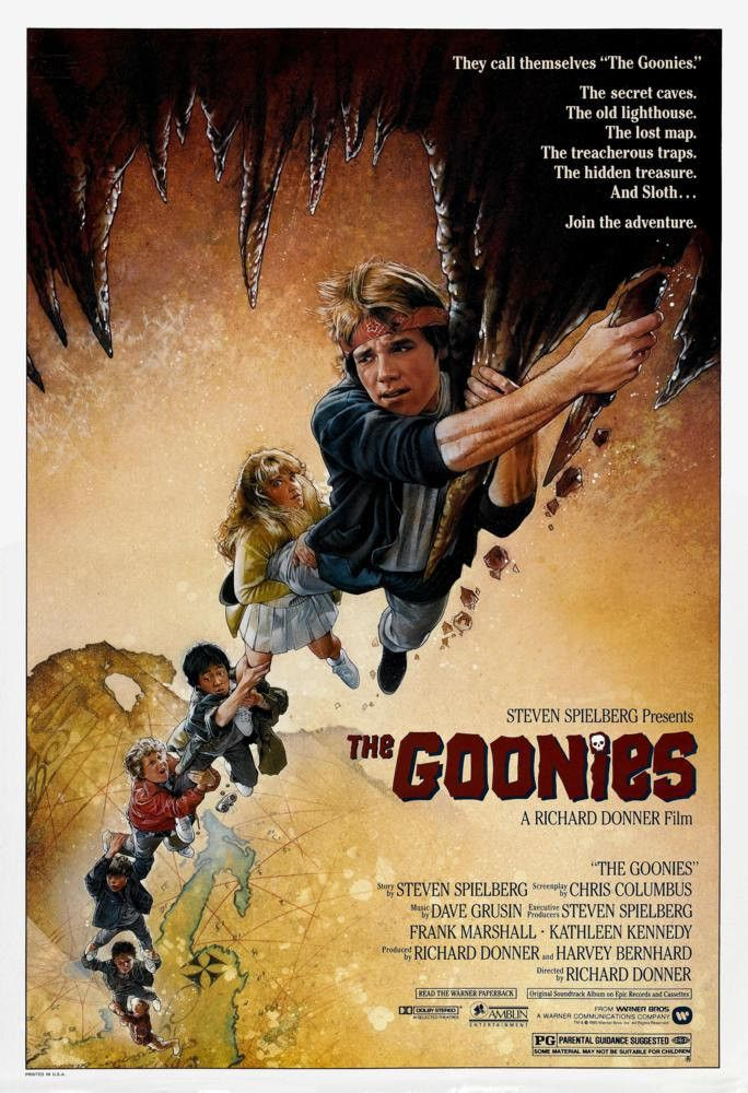 The Goonies Movie Poster. This poster hung on my wall for so many years! My friends and I even took the Goonie oath (which I still know by heart) after seeing it in the theater 8 times! I don't even know how we managed that at that young age. Lol ~ Cassiopia26