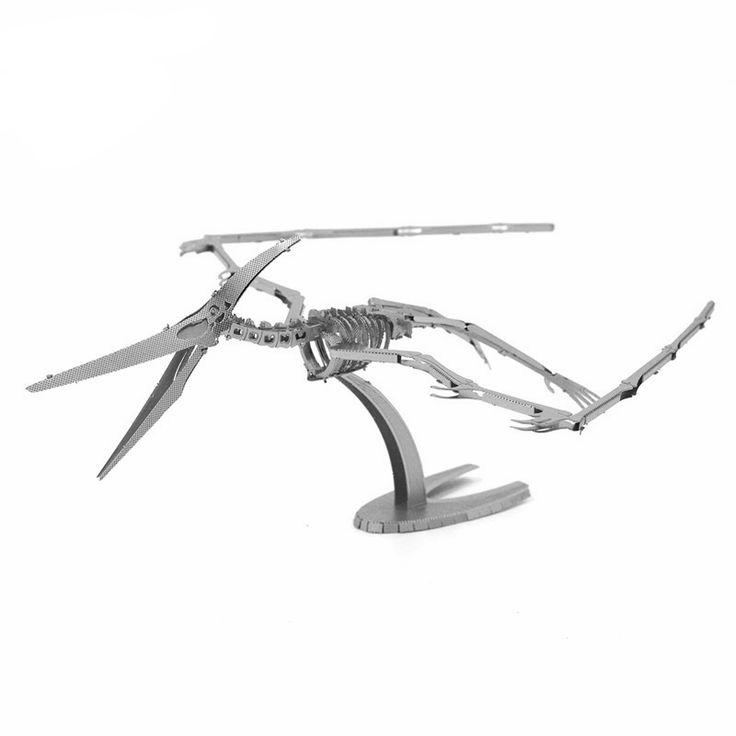3D Metal Puzzle - Pterosaur Skeleton Dinosaur - Pick Pay Post
