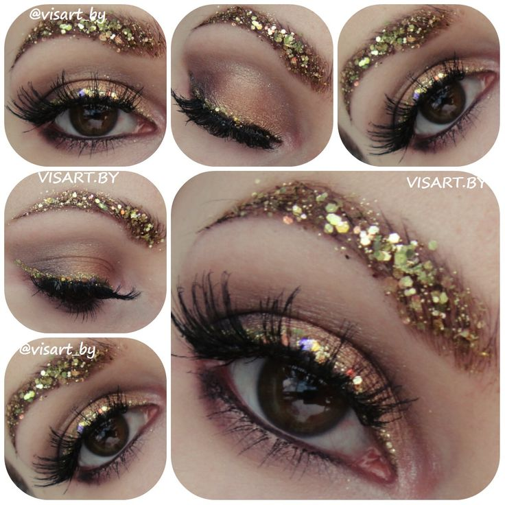Креативный макияж для фотосессий с золотыми бровями и тенями палетки Sleek Garden of Eden  консилер Inglot amc 01, benefit гель для бровей и тушь, ресницы Ardell demi wispes, NYX Jumbo черный #creative #mua #makeup #makeupmafia #flawless #glamour #creativemakeup #shine #gliter #makeupideas #brows #makeupbrows #makeupartist #mascara #inglot #benefit #sleek #nyx #ardell #bbloggers #креативныймакияж #макияж #макияжминск #вечерниймакияж #красивыймакияж #макияжбровей www.visart.by